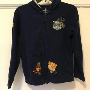 RARE Disney Parks Youth Large Embroidered Hoodie